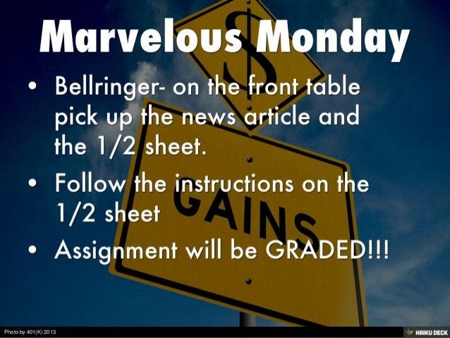 Marvelous Monday