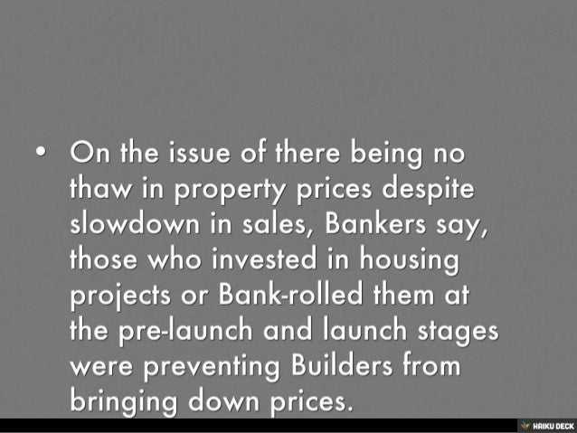 HOUSING PROJECTS INCOMPLETE, BANKERS ARE WORRIED OVER NEW LAUNCHES Slide 3