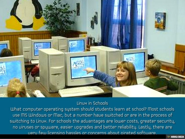 Using Linux in Schools Slide 2
