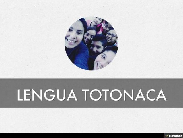 Lengua Totonaca