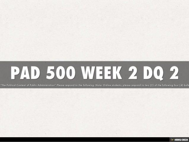 PAD 500 WEEK 2 DQ 2