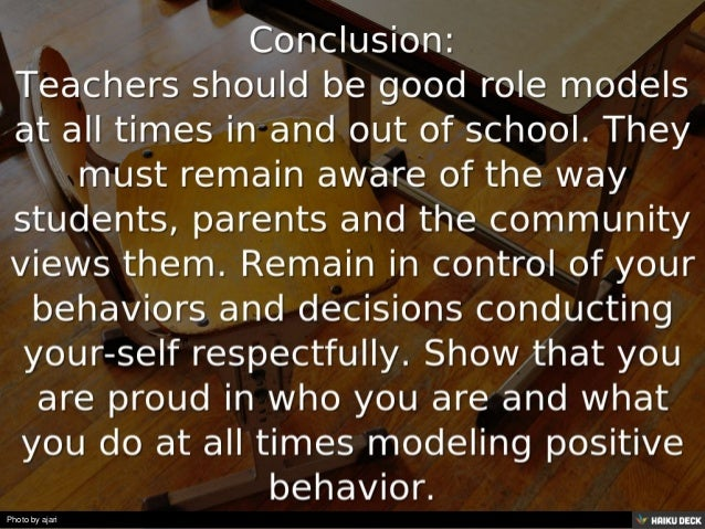 bad role model good teacher I once read a striking article by tom dennis about the reality of both observing and being, either a good or bad role model and the impact they can have.