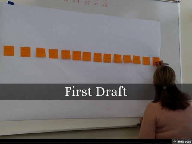 First Draft<br>