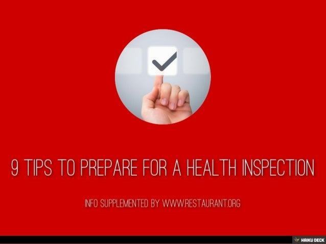 9 tips to prepare for a health inspection