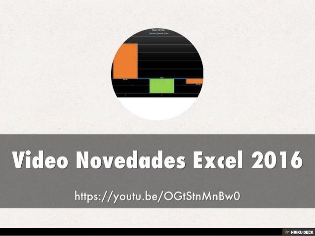 Novedades Excel 2016 Crear Gráfica WaterFall  de Cascada