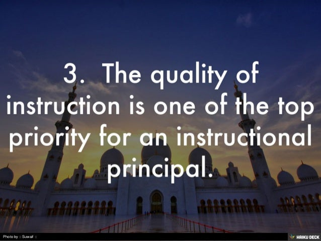 instructional leadership for principals