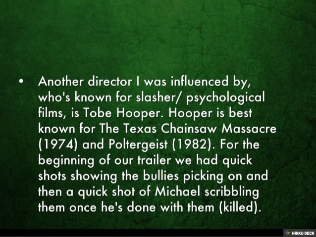 What Auteur Influence Did You Bring to The Trailer?