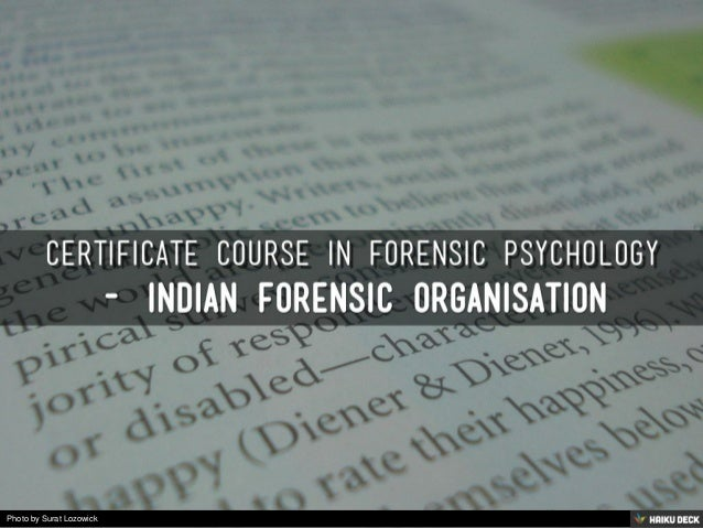 forensic psychology coursework Information about our msc forensic psychology course, from our school of social sciences.