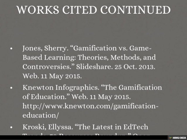 Gamification and Game Based Learning