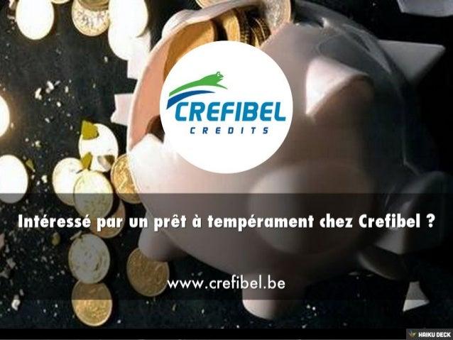 Crefibel : votre prêteur à tempérament