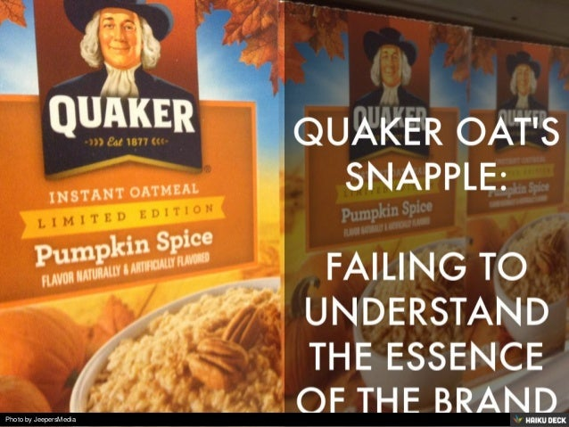 Quaker oats snapple acquisition analysis essay