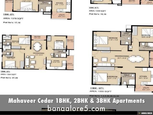 Mahaveer Cedar 1BHK, 2BHK & 3BHK Apartments Slide 2