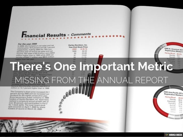 There's One Important Metric <br>Missing From The Annual Report<br>