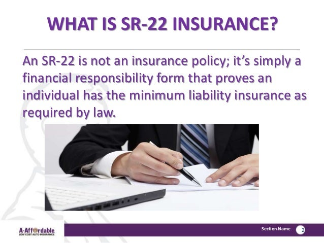 What is an SR22?