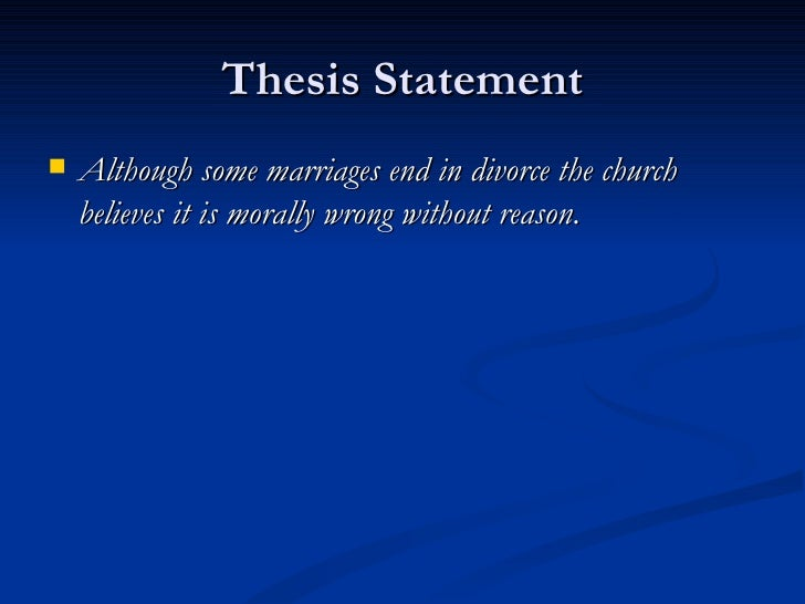 How to Create a Strong Thesis on Marriage