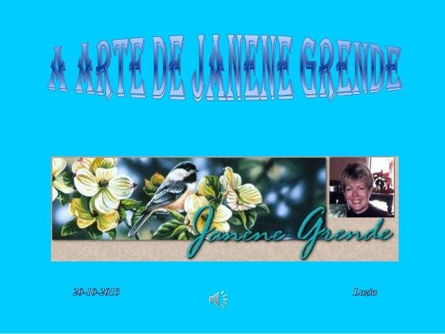 Janene Grende trabalha em suas telas há mais de 30 anos. Pintando com guache e corantes em seda para criar algumas pintura...