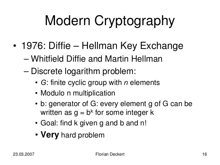 A brief history of cryptography essay