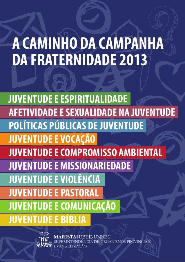 A CAMINHO DA CAMPANHADA FRATERNIDADE 2013JUVENTUDE E ESPIRITUALIDADEAFETIVIDADE E SEXUALIDADE NA JUVENTUDEPOLÍTICAS PÚBLIC...