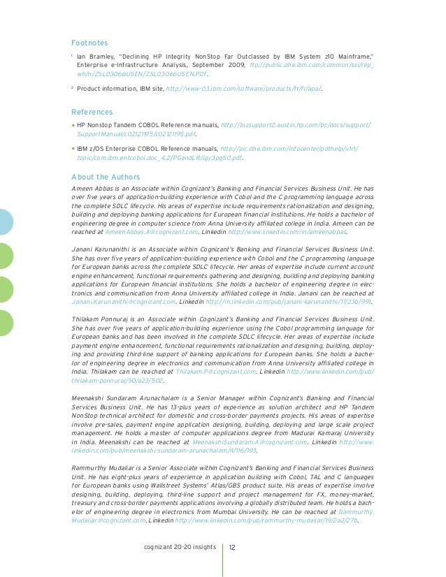 A Checklist for Migrating Big Iron Cobol Applications