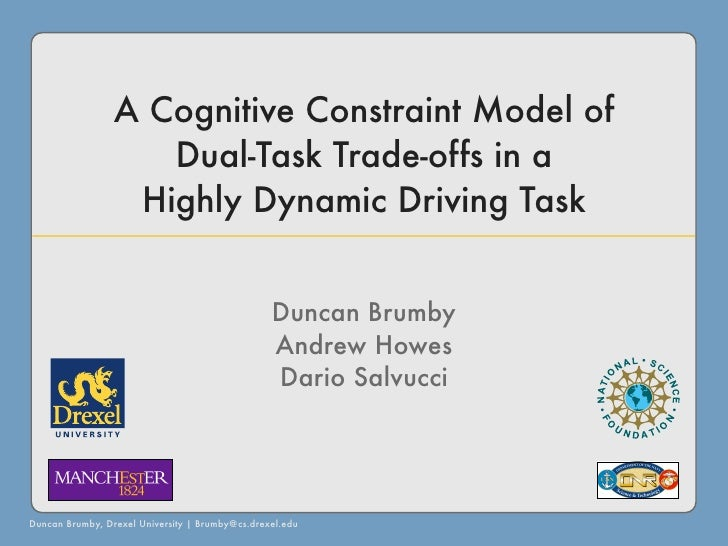 A Cognitive Constraint Model of                     Dual-Task Trade-offs in a                   Highly Dynamic Driving Tas...