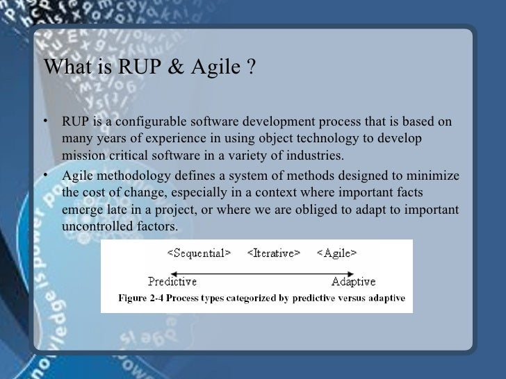 A comparative study of rational unified process rup for What is the difference between waterfall and agile methodologies