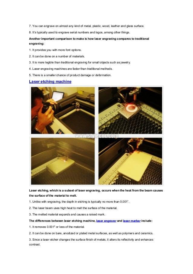 A comparison of Laser engraving machine,Laser marking