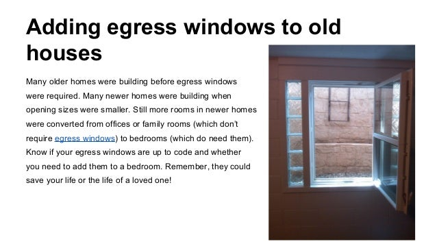 Bedroom egress window for Bedroom window egress requirements