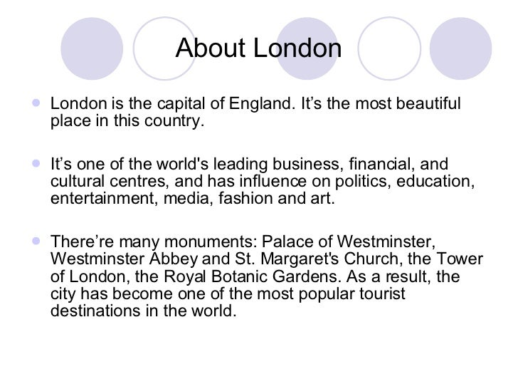 Presentation About London 39 S Attractions