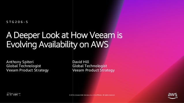 A Deeper Look at How Veeam is Evolving Availability on AWS