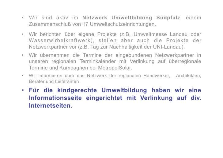 """•   Schon mit der Gründung der Initiative """"Sonniges Landau"""" war für uns die Errichtung von      Bürgersolaranlagen ein Th..."""