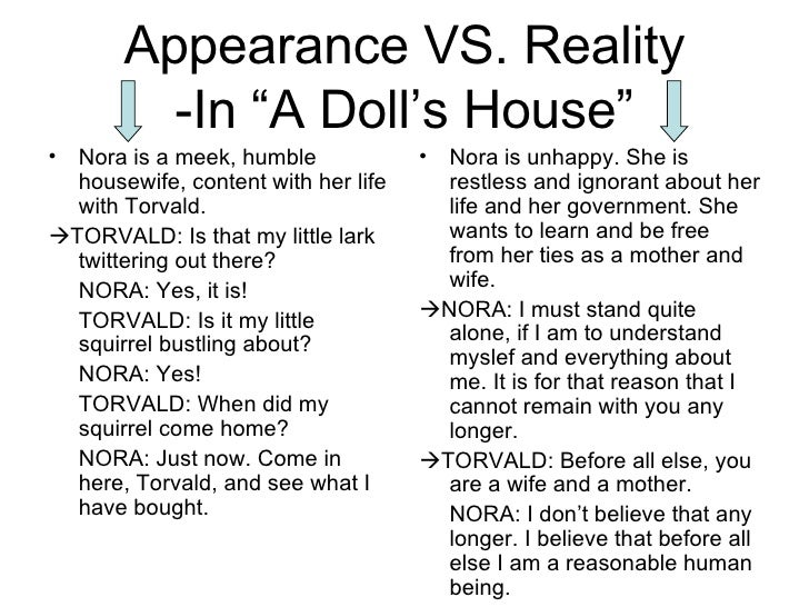the themes in a dolls house Of a doll's house: nora leaves her marriage,  of the theme of motherhood that  henrik ibsen.