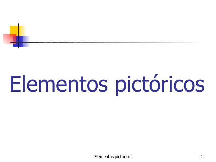 Elementos pictóricos