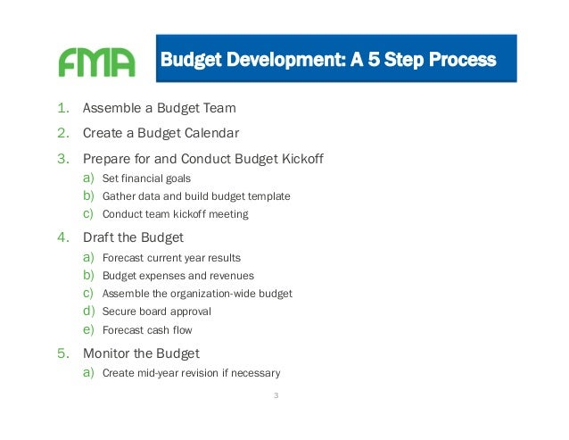 A Five Step Guide To Budget Development