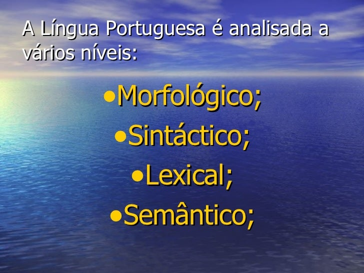 A gramática portuguesa Slide 2