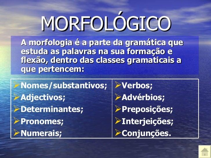 A gramática portuguesa Slide 3