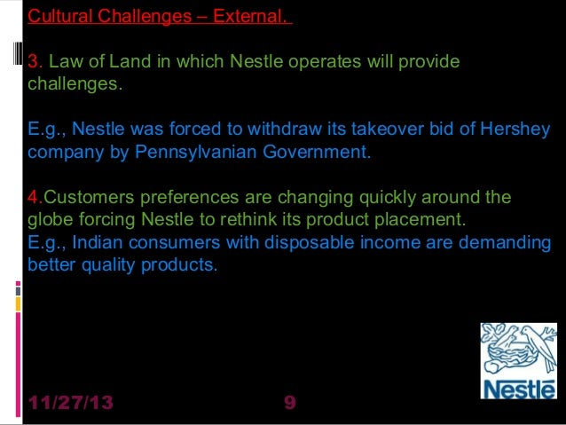Nestle cultural problems in india