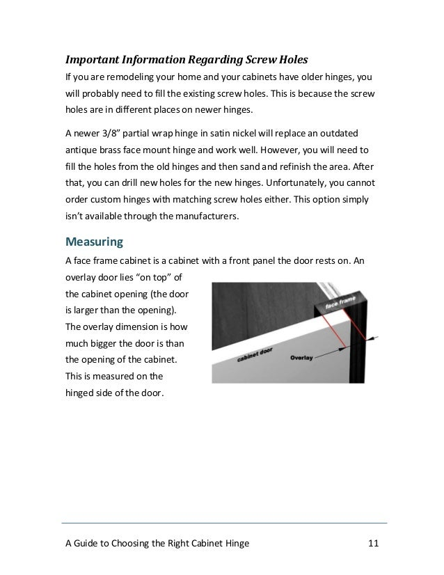 A Guide To Choosing The Right Cabinet Hinge