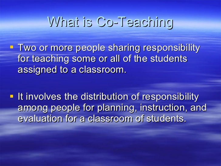 A Guide To Co Teaching Slide 2