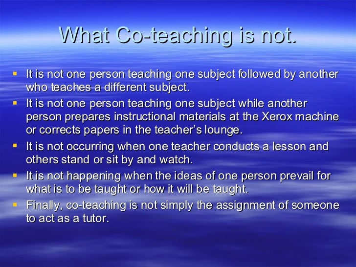 A Guide To Co Teaching Slide 3