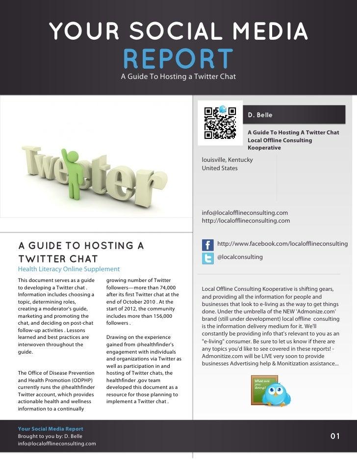 YOUR SOCIAL MEDIA                                          REPORT                                         A Guide To Hosti...