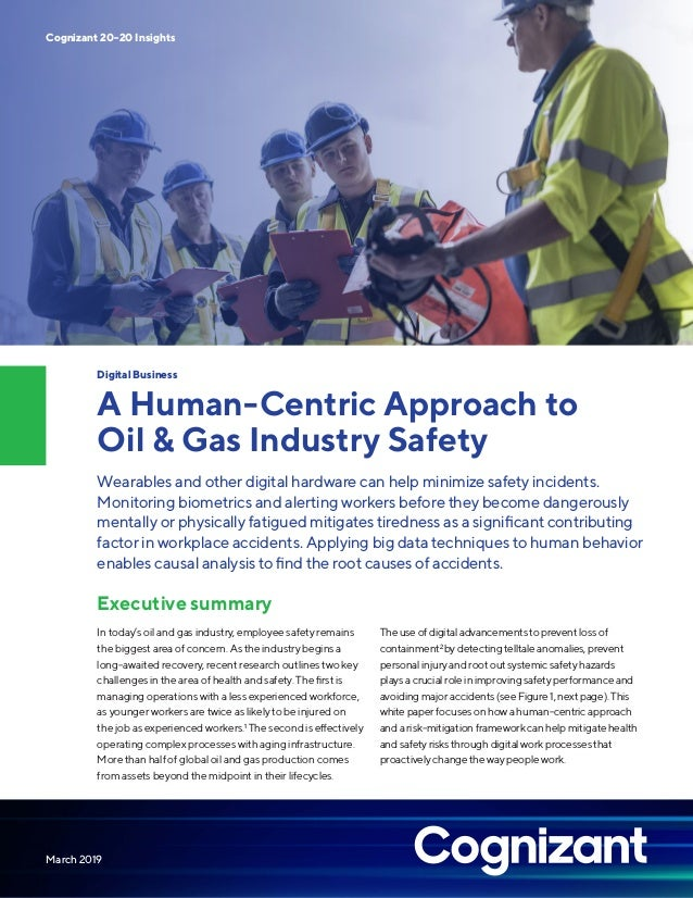 A Human-Centric Approach to Oil & Gas Industry Safety