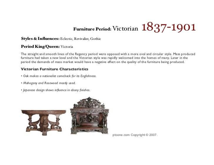 10. 1837 1901 Furniture Period: Victorian Styles ...