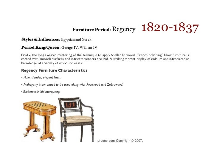 a illustrated timeline of the styles of period english furniture