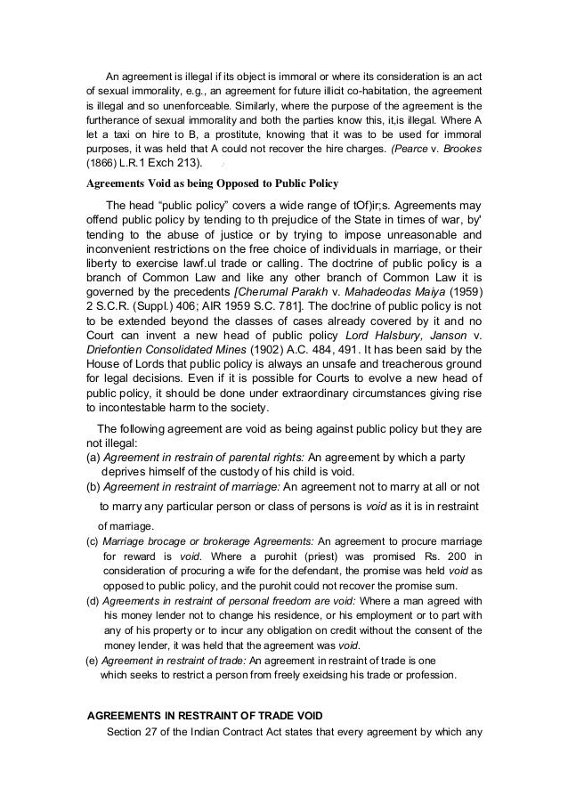 section 27 of the indian contract act