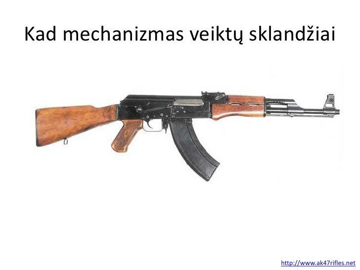 Kad mechanizmas veiktų sklandžiai                           http://www.ak47rifles.net