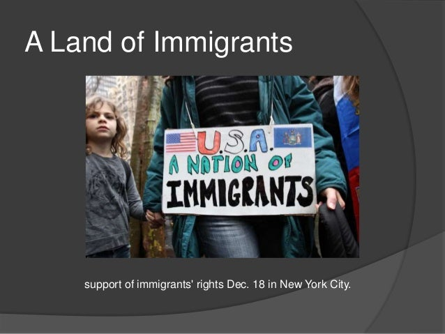 A Land of Immigrants support of immigrants' rights Dec. 18 in New York City.