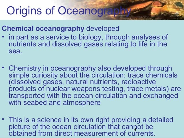 an introduction to the science of oceanography 'introductory dynamical oceanography' 2nd ed provides an introduction to dynamical physical oceanography at a level suitable for senior year undergraduate students in the sciences and for.