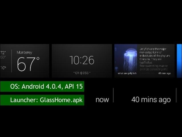 OS  Android 4.0.4, API 15 Launcher  GlassHome.apk ... 0b0c09ff0e