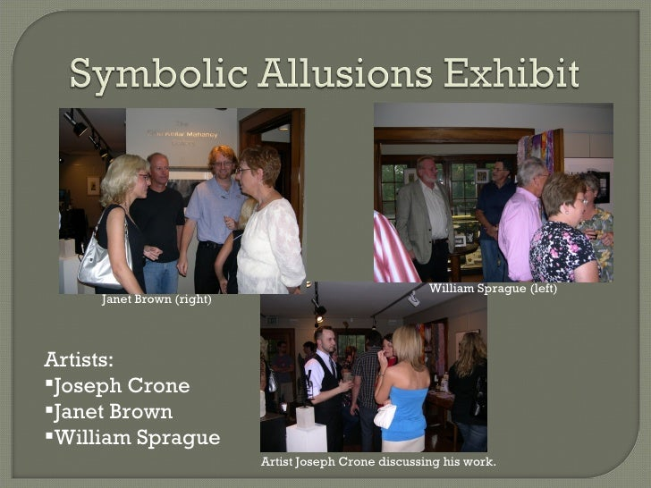 <ul><li>Artists: </li></ul><ul><li>Joseph Crone </li></ul><ul><li>Janet Brown </li></ul><ul><li>William Sprague </li></ul>...