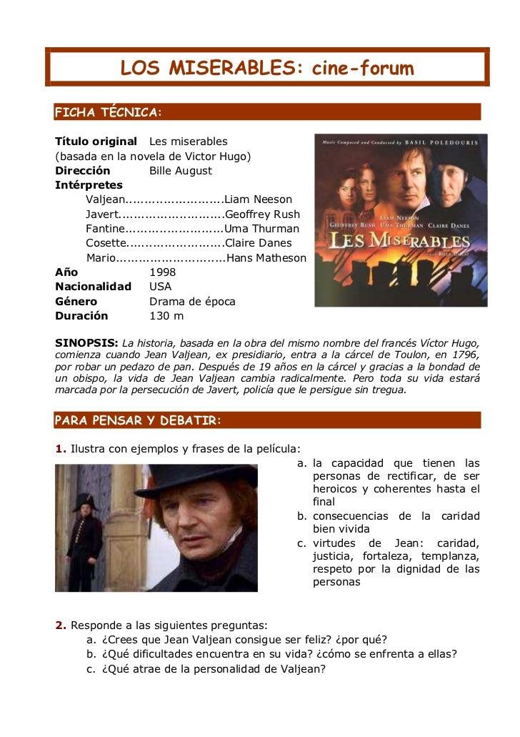 A Los Miserables Guión Cine Forum